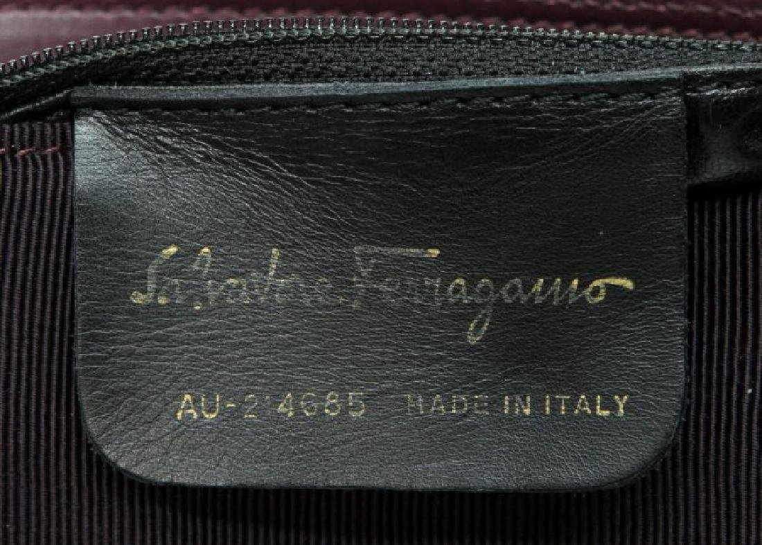 SALVATORE FERRAGAMO PURPLE CANVAS SHOULDER BAG - 5