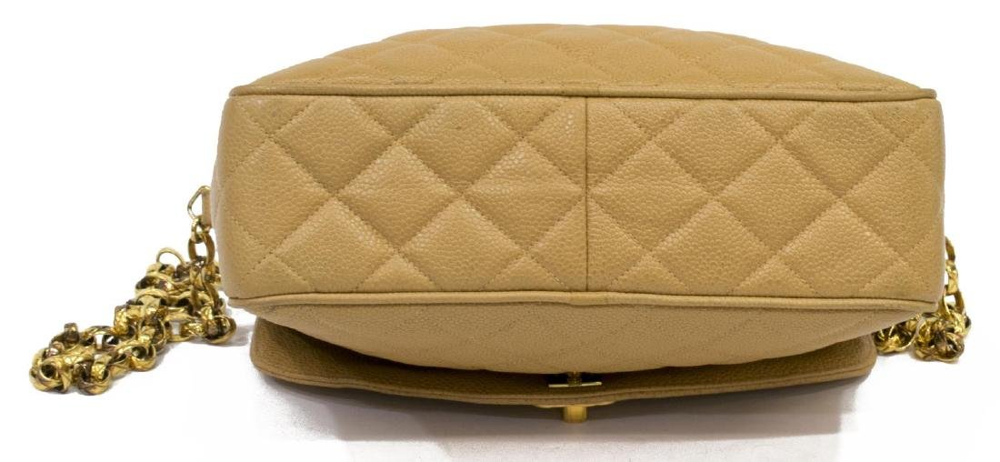 CHANEL BEIGE QUILTED LEATHER CAMERA CASE FLAP BAG - 3
