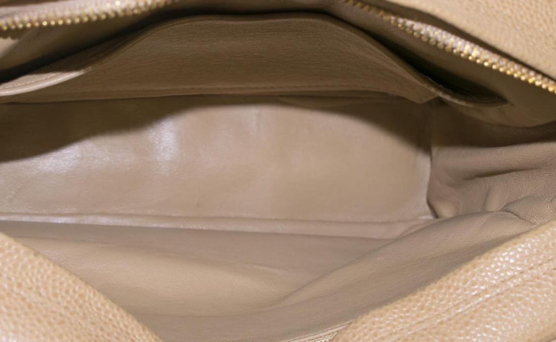 CHANEL BEIGE QUILTED LEATHER CAMERA CASE FLAP BAG - 4