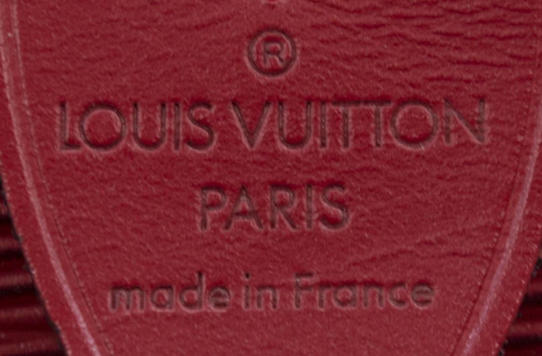LOUIS VUITTON 'SPEEDY 25' RED EPI LEATHER HANDBAG - 4