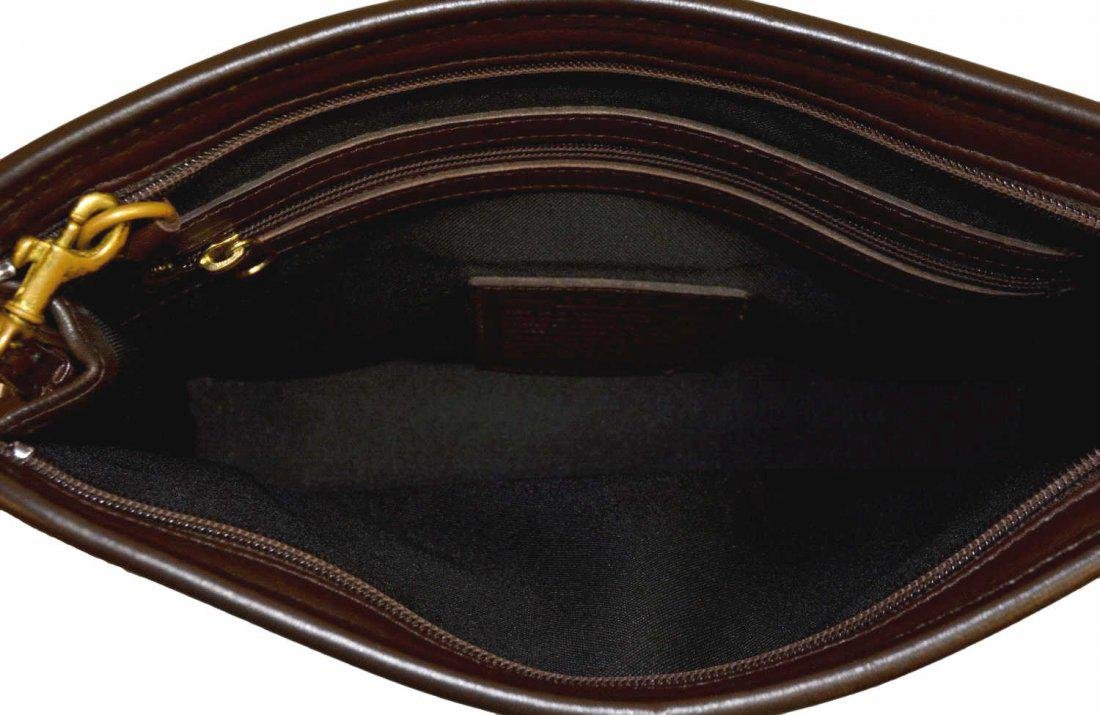 COACH BROWN LEATHER ACCESSORY POUCH OR CLUTCH - 3