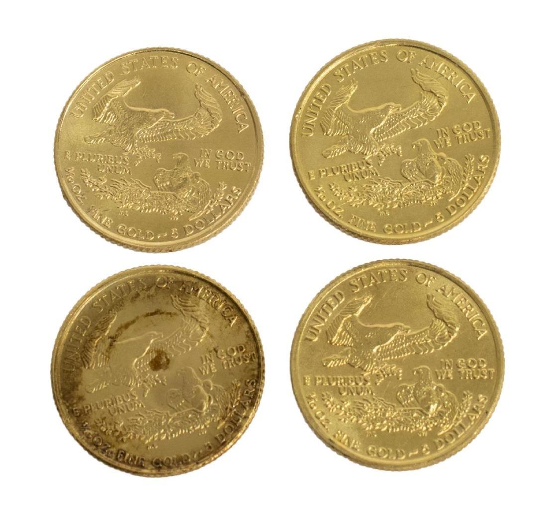(4) U.S. $5 GOLD BULLION COINS - 2