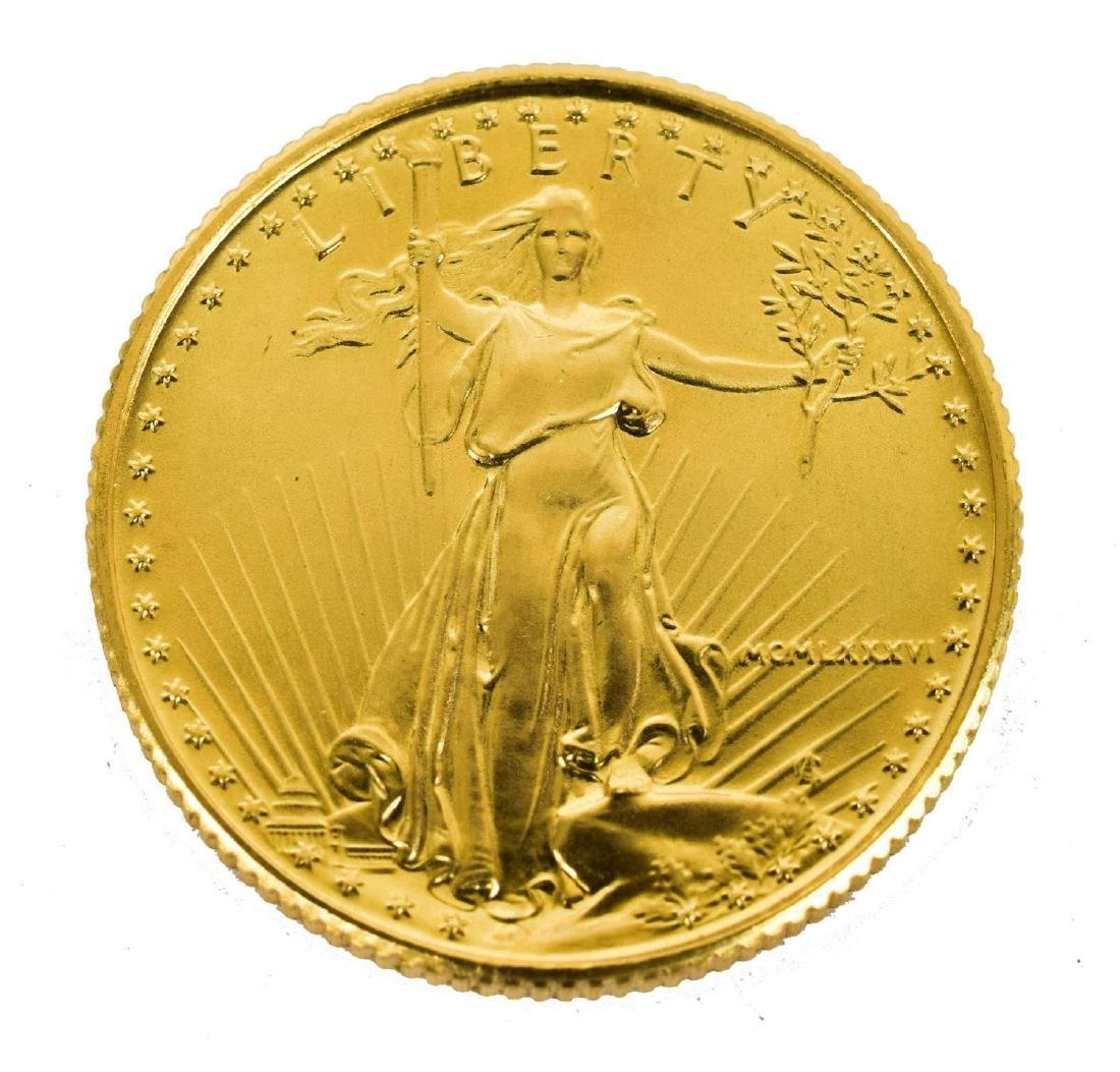 U.S. $10 DOLLAR GOLD EAGLE BULLION COIN
