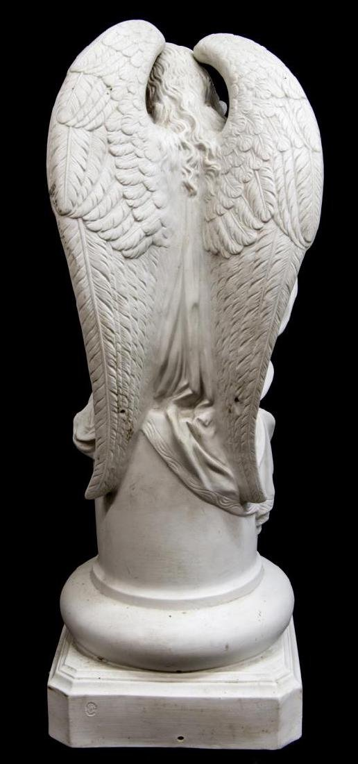 LARGE FRENCH PARIAN WINGED ANGEL FIGURE - 4