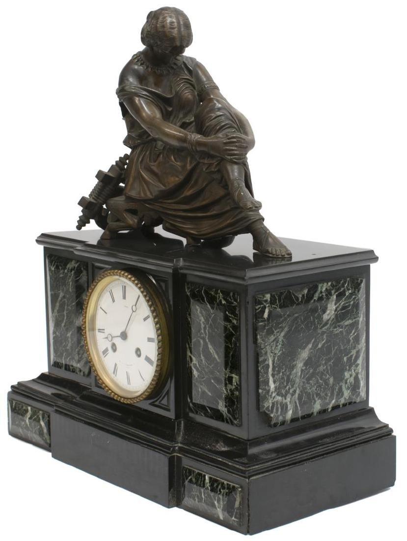 NAPOLEON III PERIOD FIGURAL MANTLE CLOCK, SAPPHO - 4