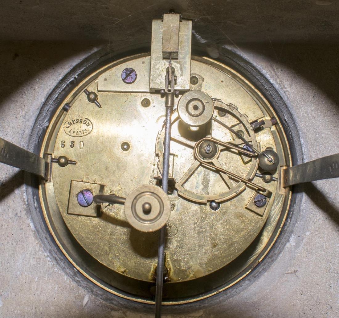 NAPOLEON III PERIOD FIGURAL MANTLE CLOCK, SAPPHO - 6