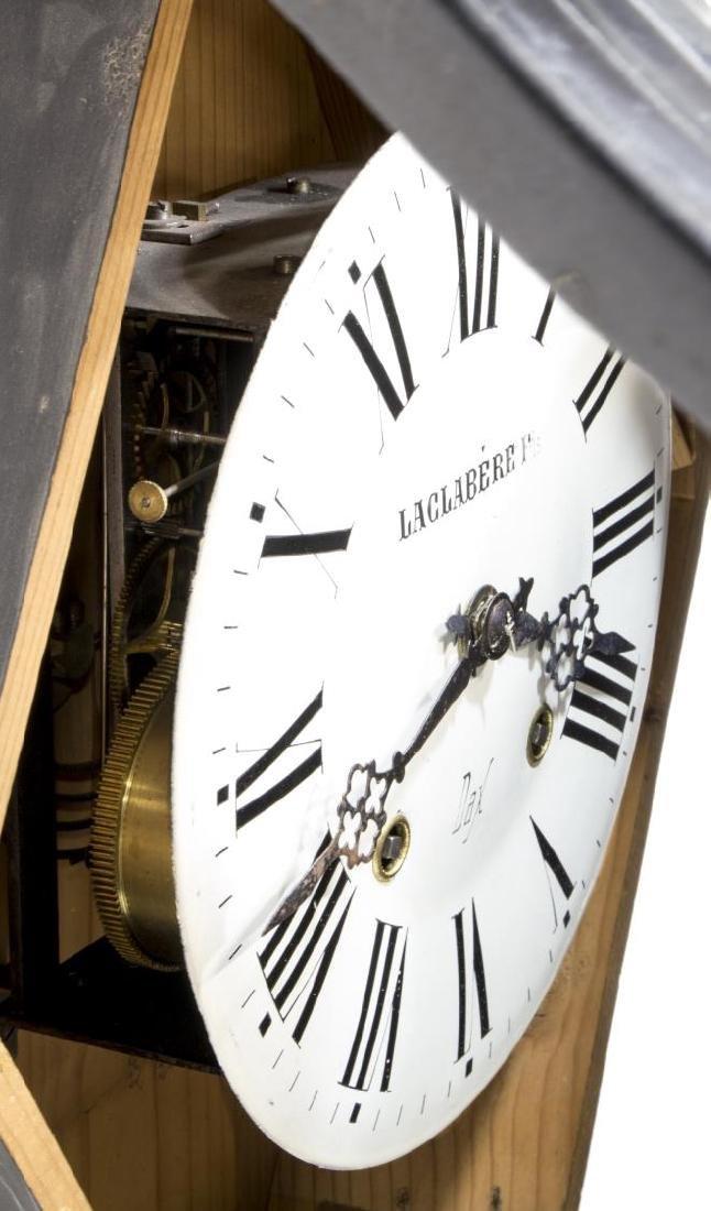 NAPOLEON III EBONZIED & INLAID SHAPED WALL CLOCK - 4