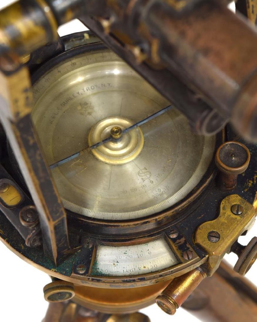 W. & L.E. GURLEY SURVEYORS TRANSIT, TRIPOD, BOX - 3