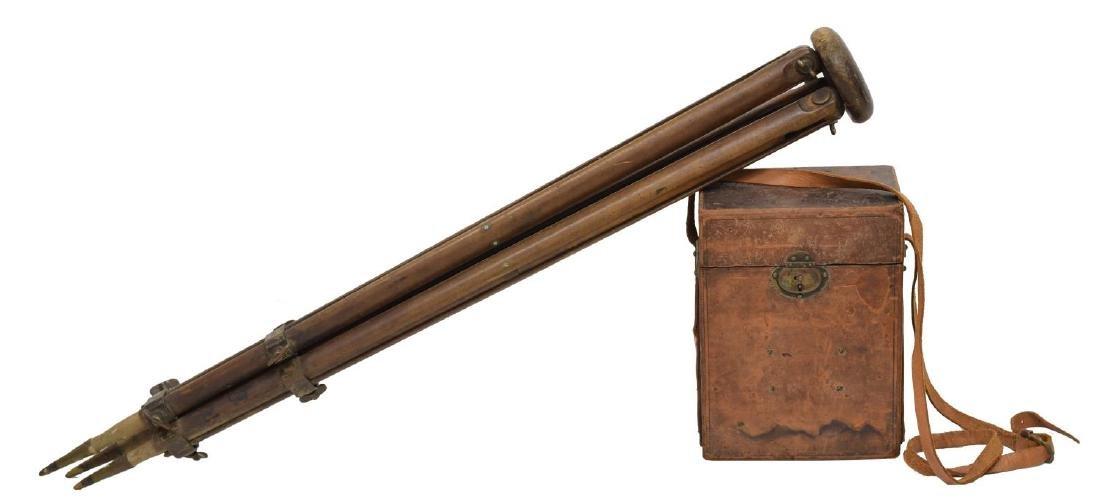 W. & L.E. GURLEY SURVEYORS TRANSIT, TRIPOD, BOX - 4