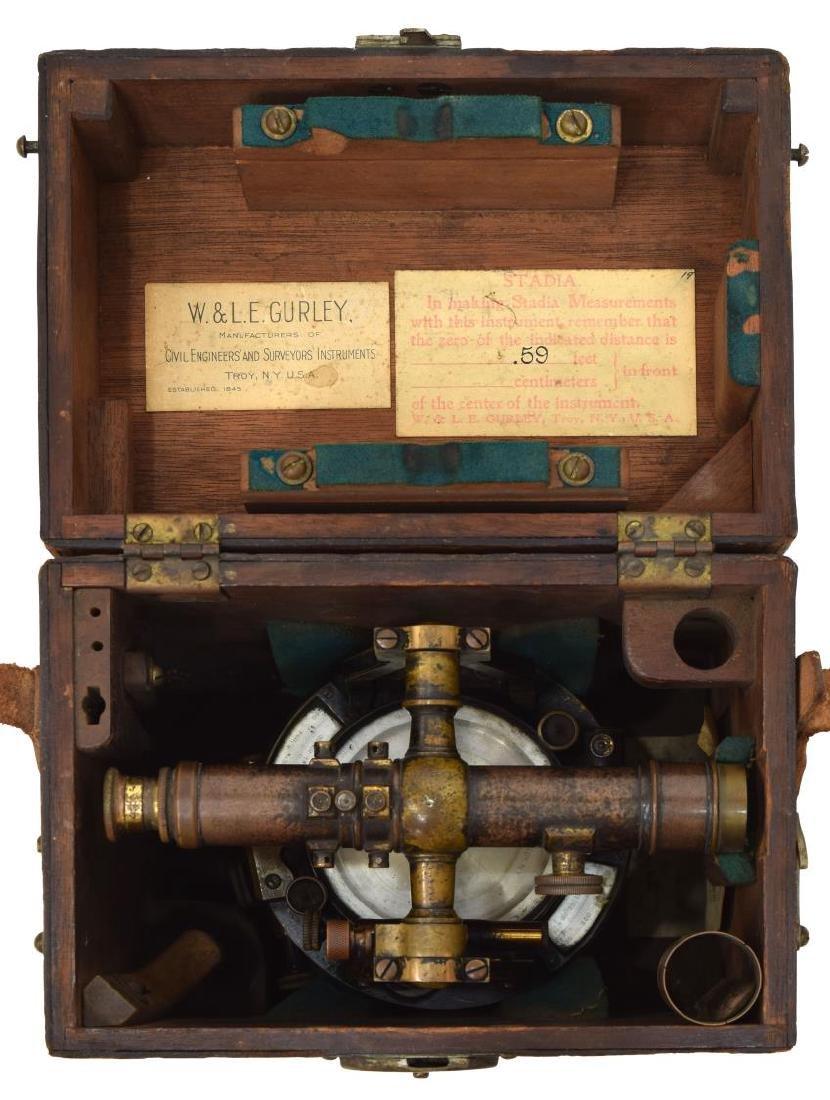 W. & L.E. GURLEY SURVEYORS TRANSIT, TRIPOD, BOX - 5