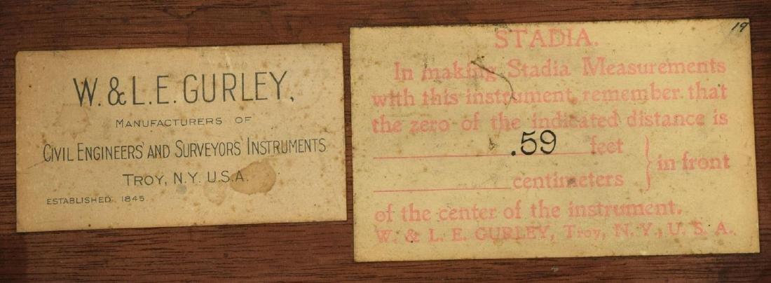 W. & L.E. GURLEY SURVEYORS TRANSIT, TRIPOD, BOX - 6