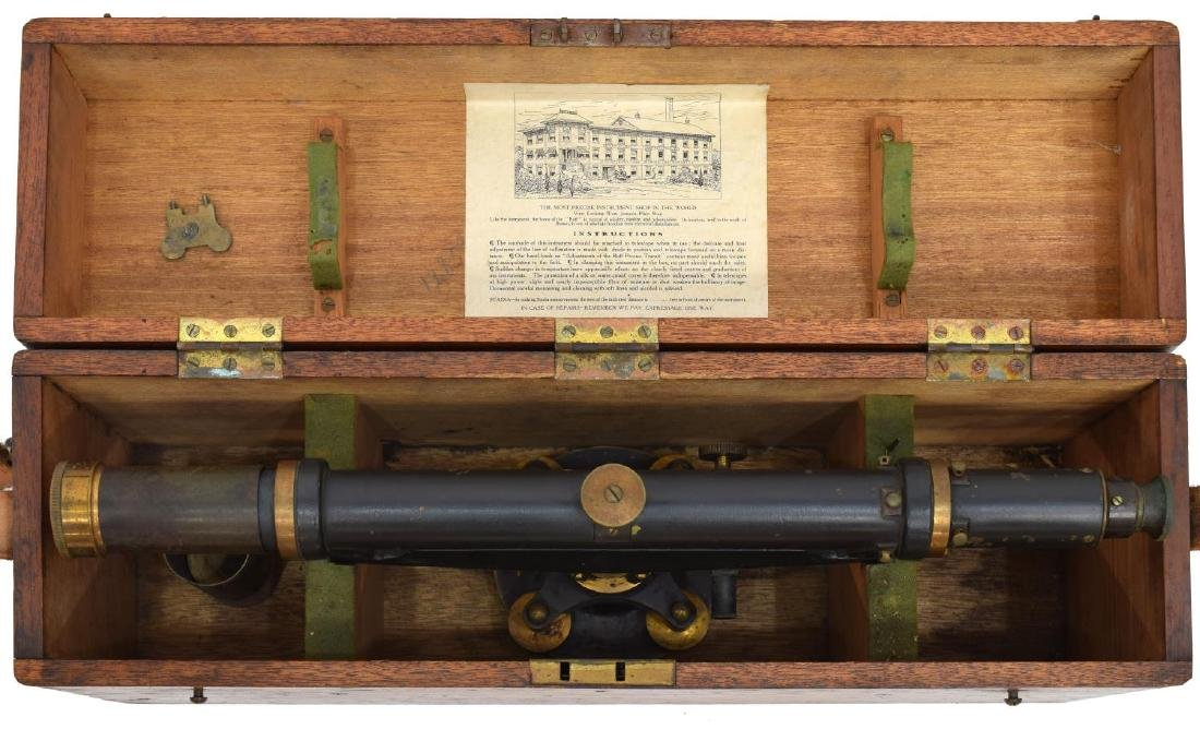 BUFF & BUFF SURVEYORS TELESCOPE, TRIPOD, ORIG BOX - 6