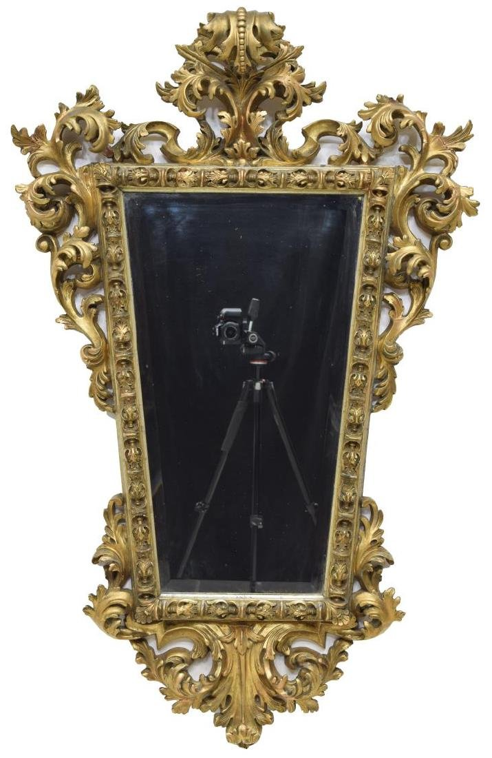 ANTIQUE FRENCH GILT FRAMED MIRROR - 2