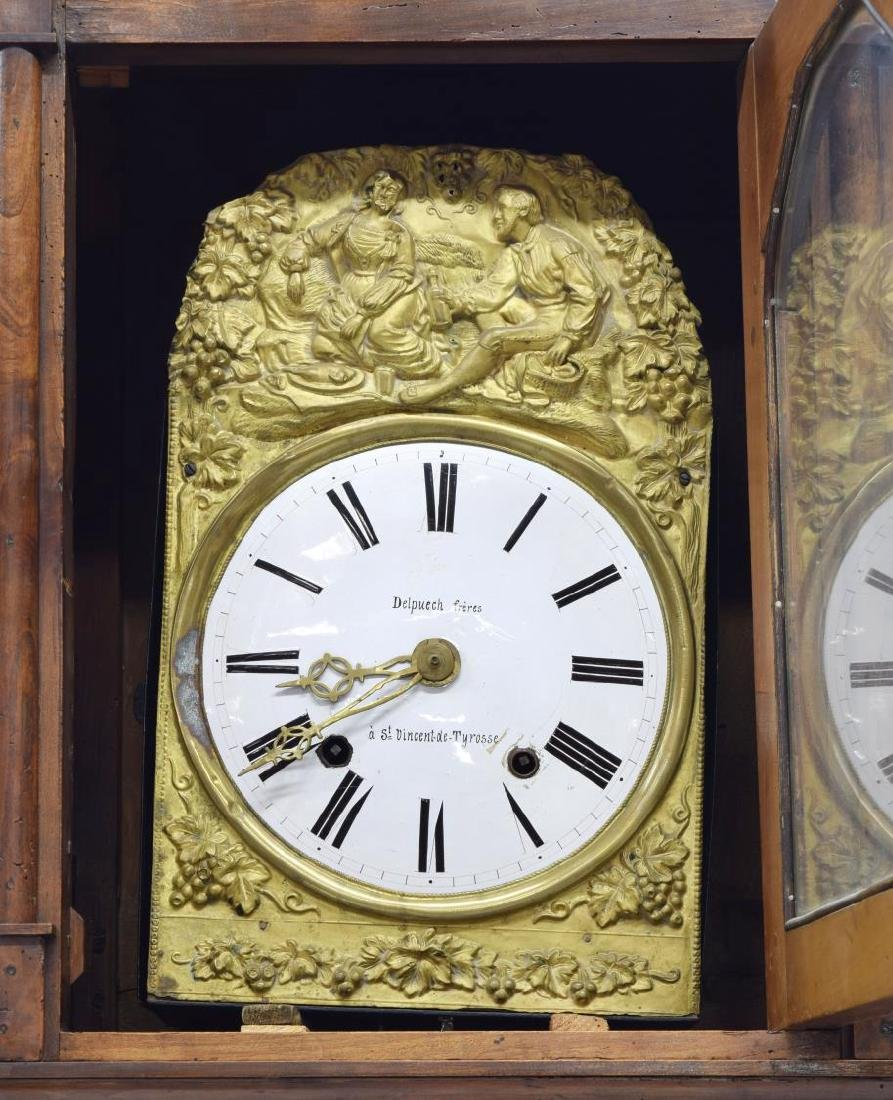 FRENCH MORBIER CASE CLOCK BY DELPUECH FRERES - 5
