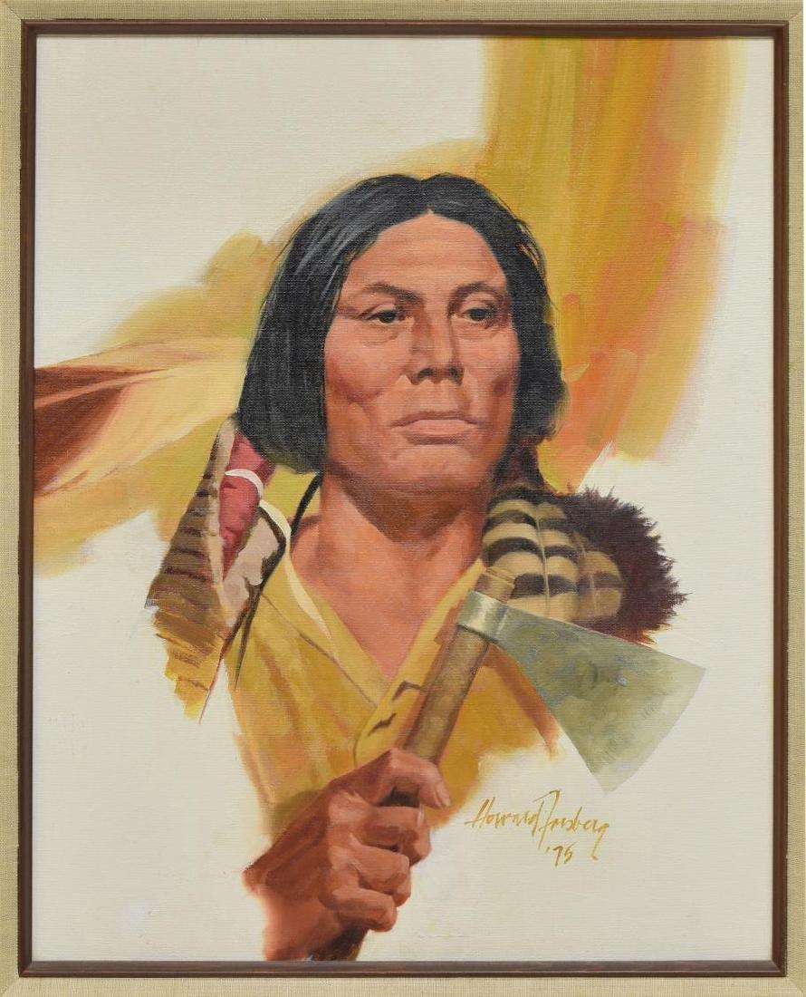 HOWARD FORSBERG(1918-2002)CHEYENNE INDIAN PAINTING
