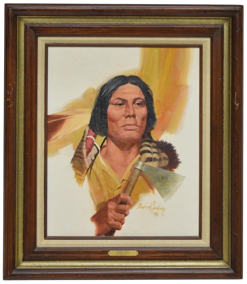 HOWARD FORSBERG(1918-2002)CHEYENNE INDIAN PAINTING - 2