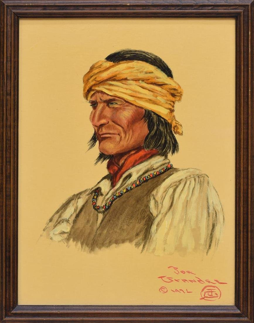 JOE GRANDEE (TEXAS, B. 1929) APACHE WARRIOR