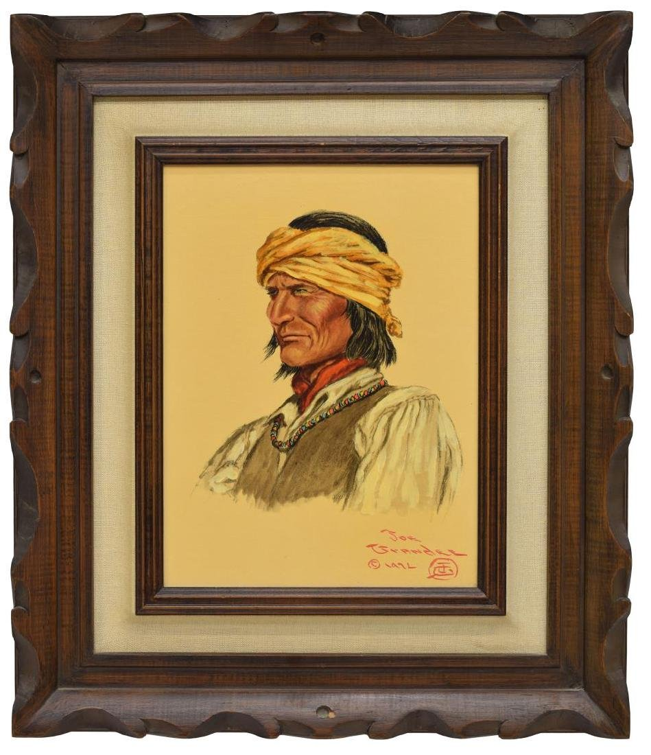 JOE GRANDEE (TEXAS, B. 1929) APACHE WARRIOR - 2