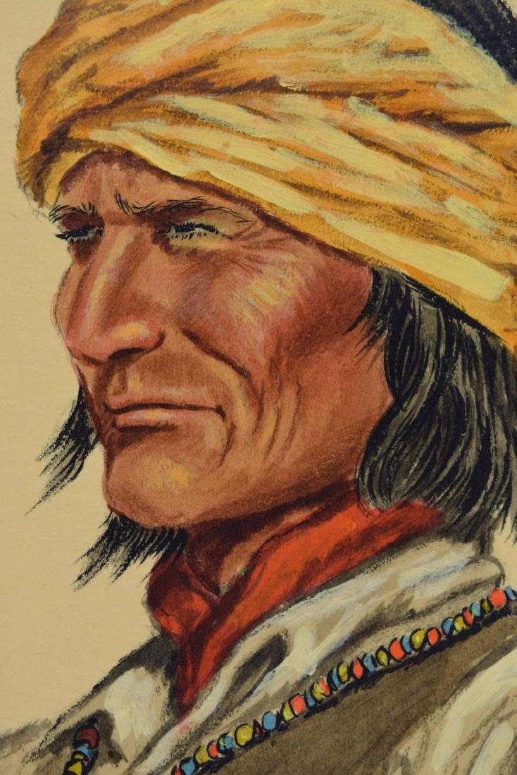 JOE GRANDEE (TEXAS, B. 1929) APACHE WARRIOR - 3