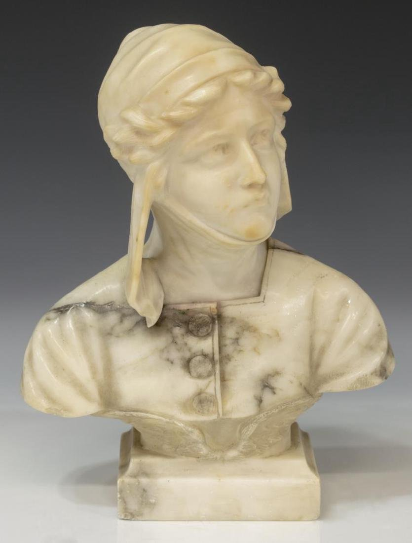 FLORENCE ITALY CARVED ALABSTER BUST
