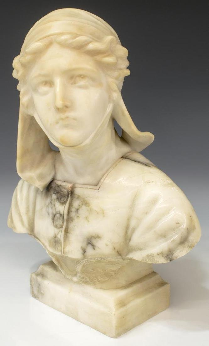 FLORENCE ITALY CARVED ALABSTER BUST - 2