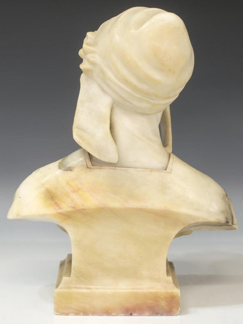 FLORENCE ITALY CARVED ALABSTER BUST - 3