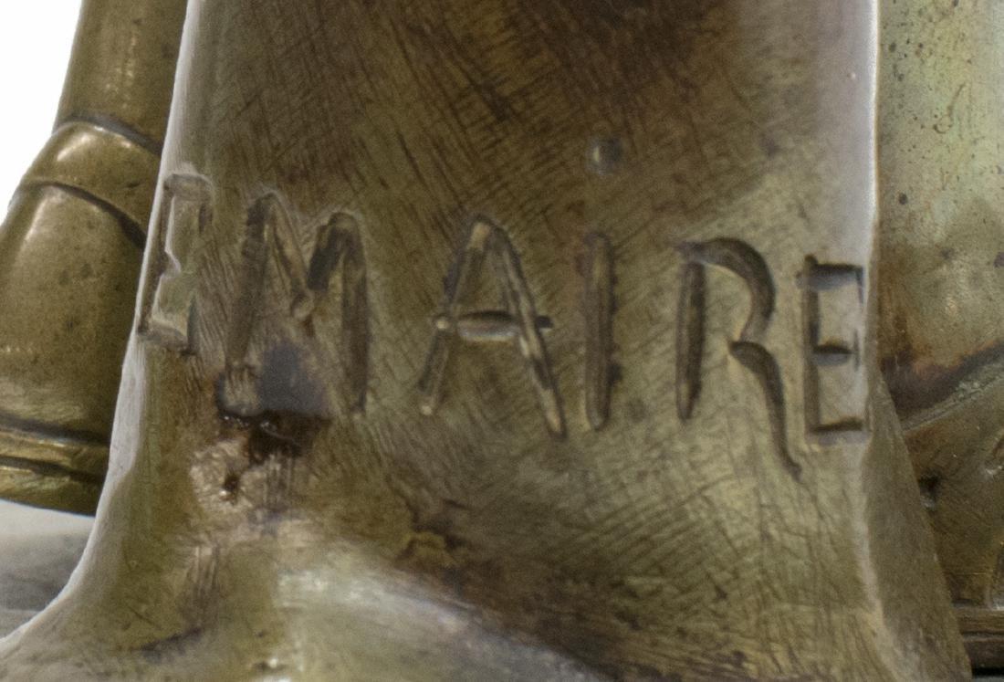 A. LEMAIRE PATINATED BRONZE, DIANE DE GABIES - 6