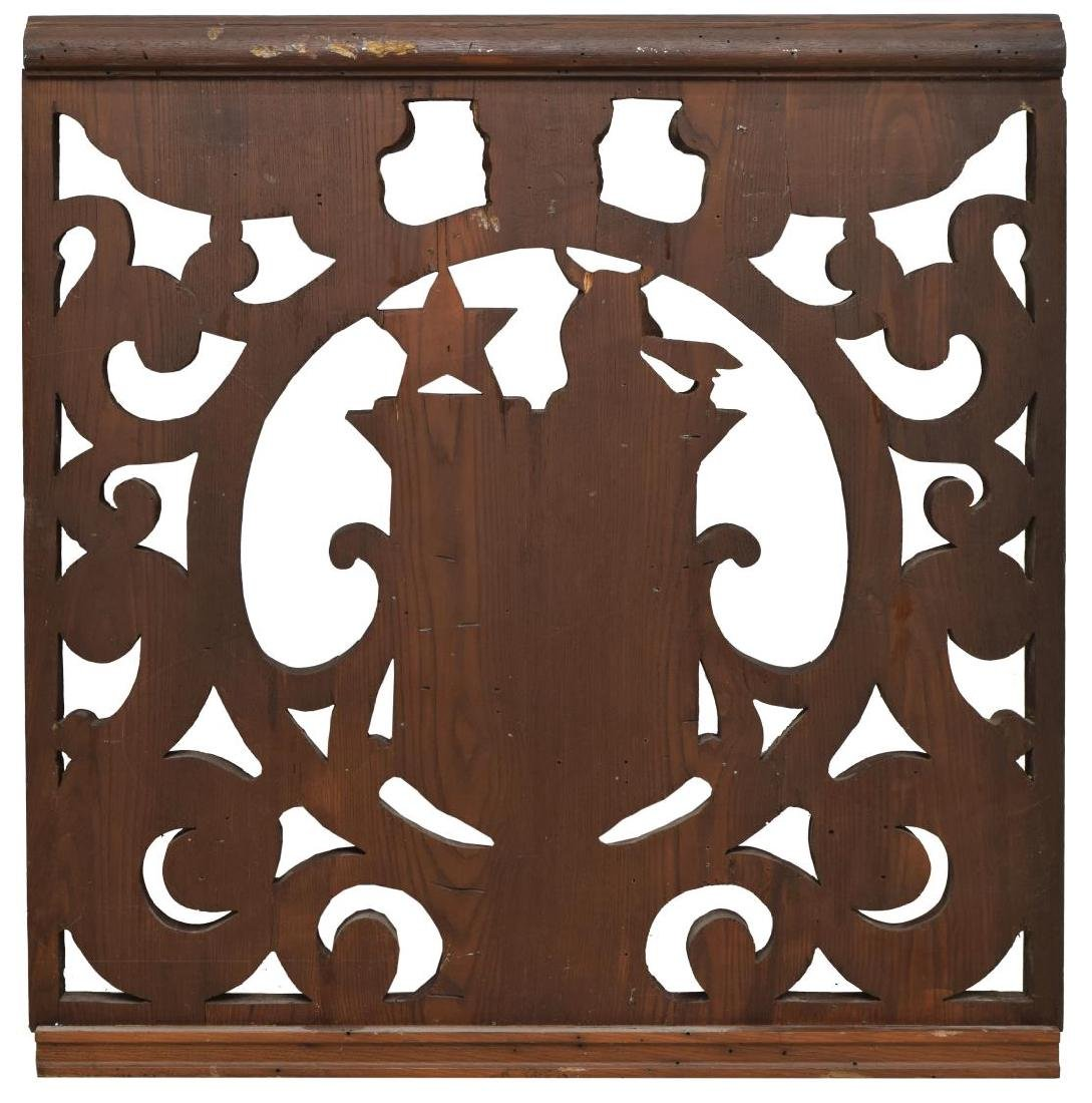 CARVED WOOD COAT OF ARMS ARCHITECTURAL ELEMENT - 2