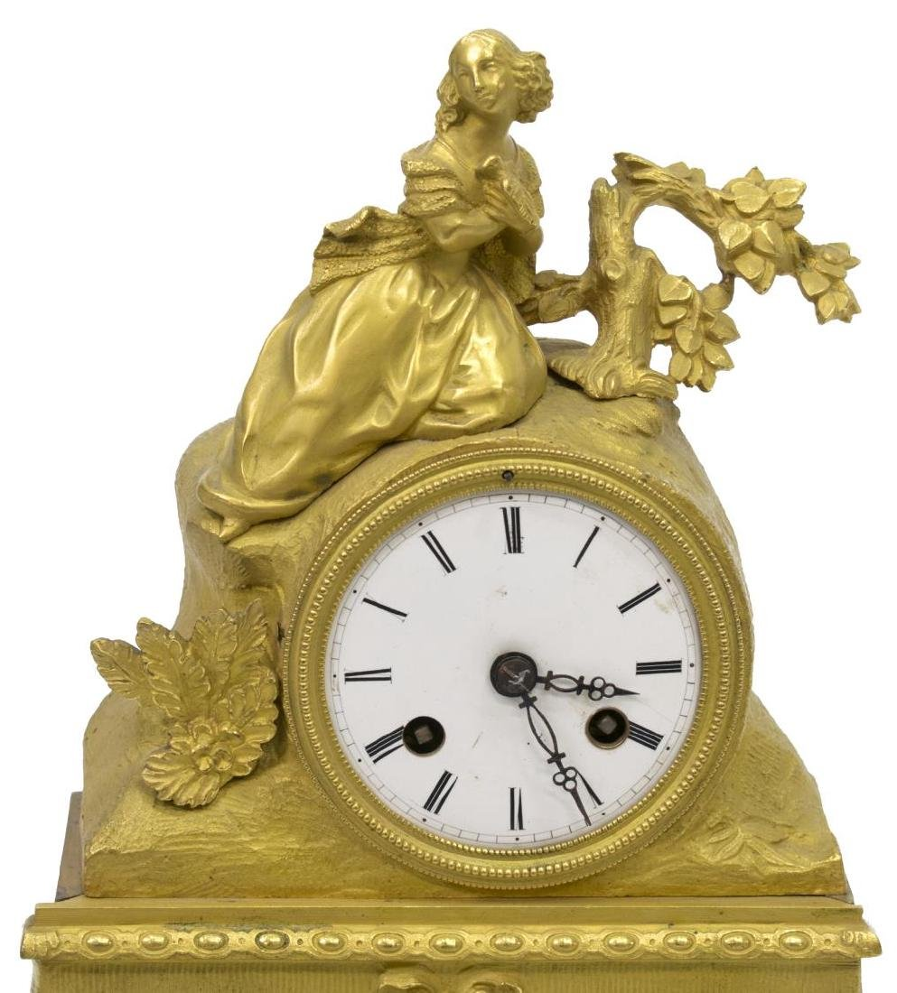 JAPY FRERES LOUIS XV STYLE GILT CLOCK, GLASS DOME - 4