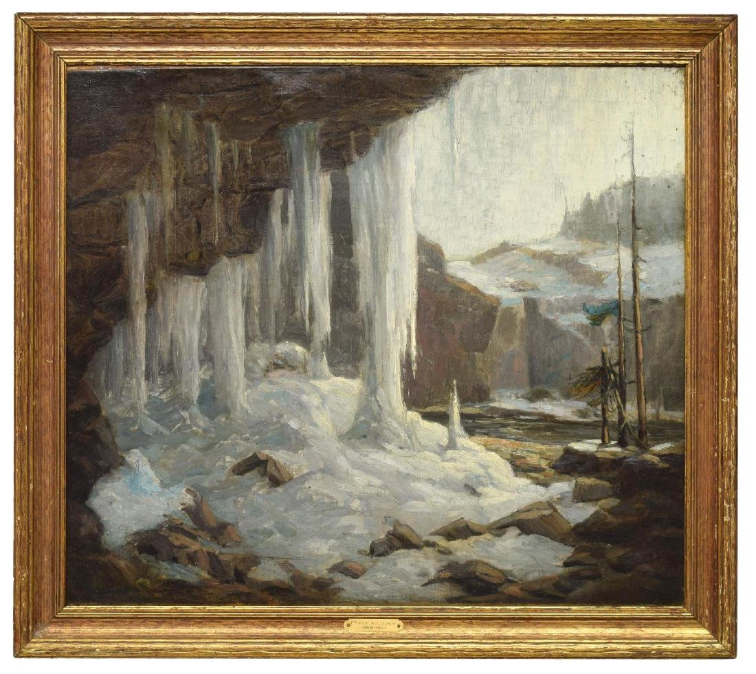 "FRANK LOVEN (1868-1951) ""AUSABLE CHASM"" PAINTING"