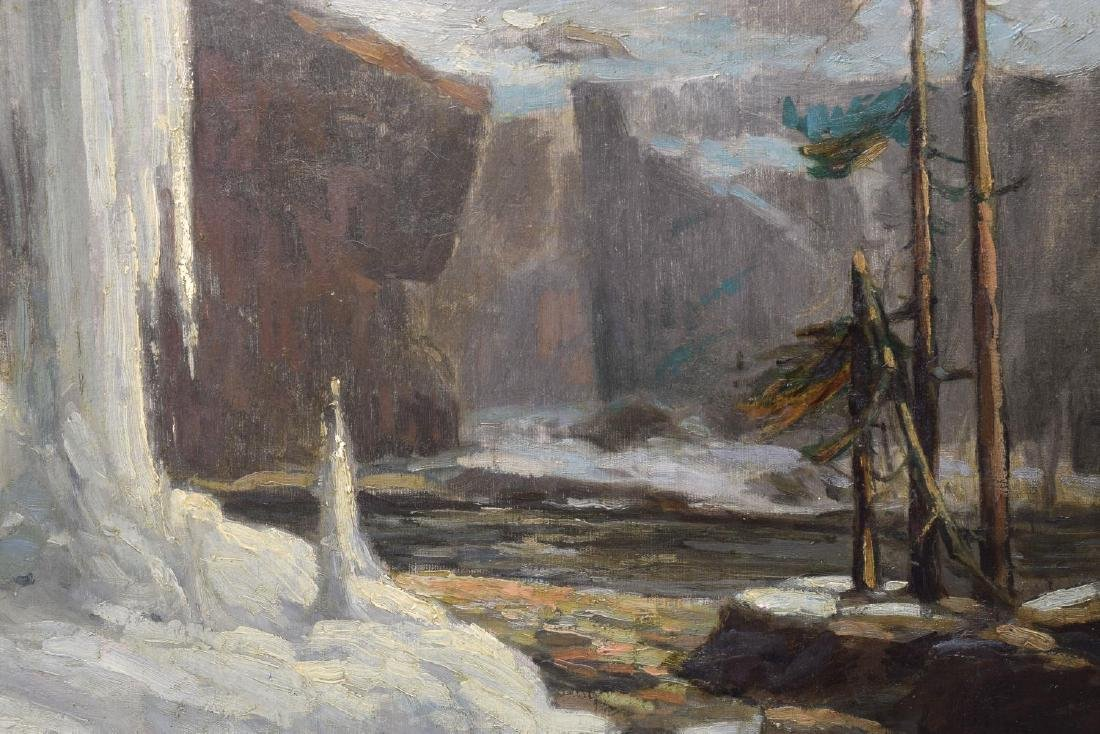 "FRANK LOVEN (1868-1951) ""AUSABLE CHASM"" PAINTING - 3"