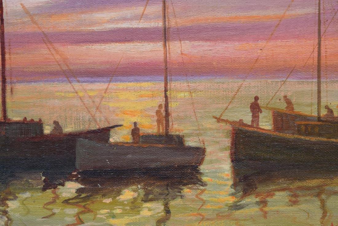 NUNZIO VAYANA (1878-1960) FRAMED OIL ON CANVAS - 4