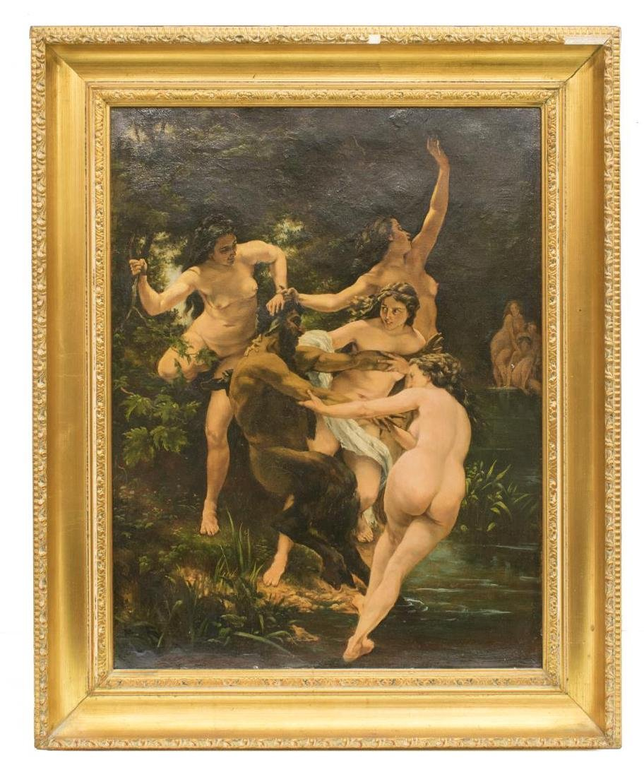 AFTER BOUGUEREAU, NYMPHS AND SATYR PAINTING - 2