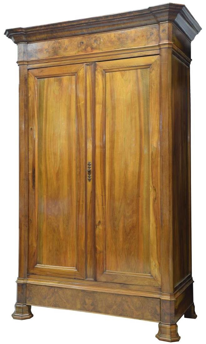 LARGE LOUIS PHILIPPE WALNUT ARMOIRE