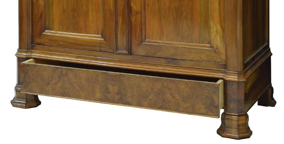 LARGE LOUIS PHILIPPE WALNUT ARMOIRE - 3