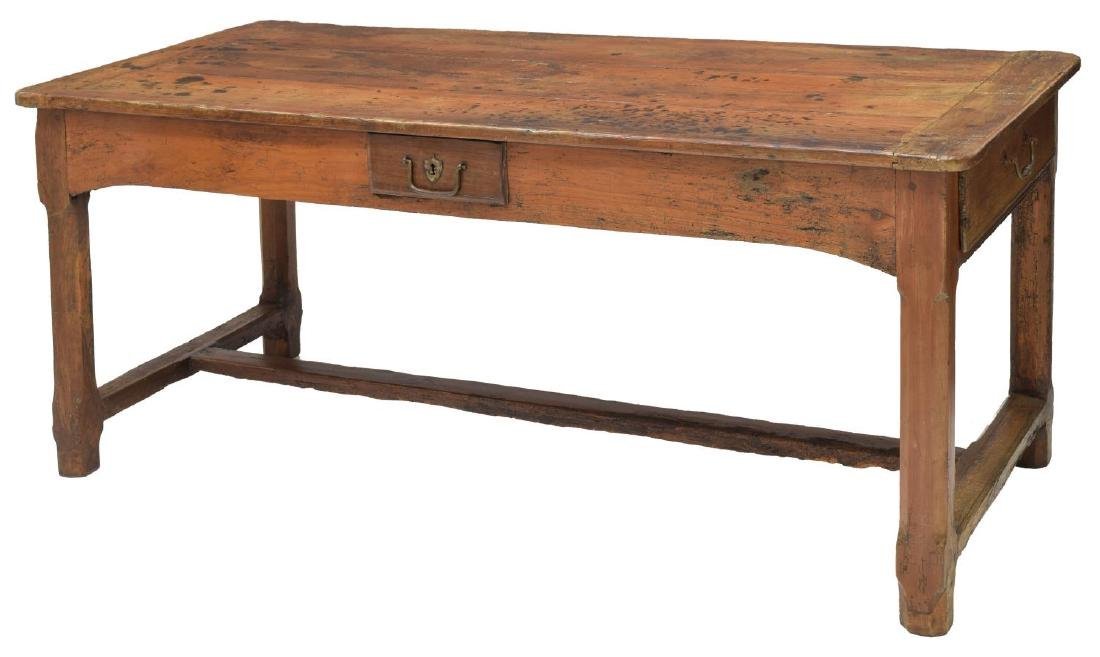 FRENCH FARM HOUSE TABLE, DRAWERS, 18th/19th C.