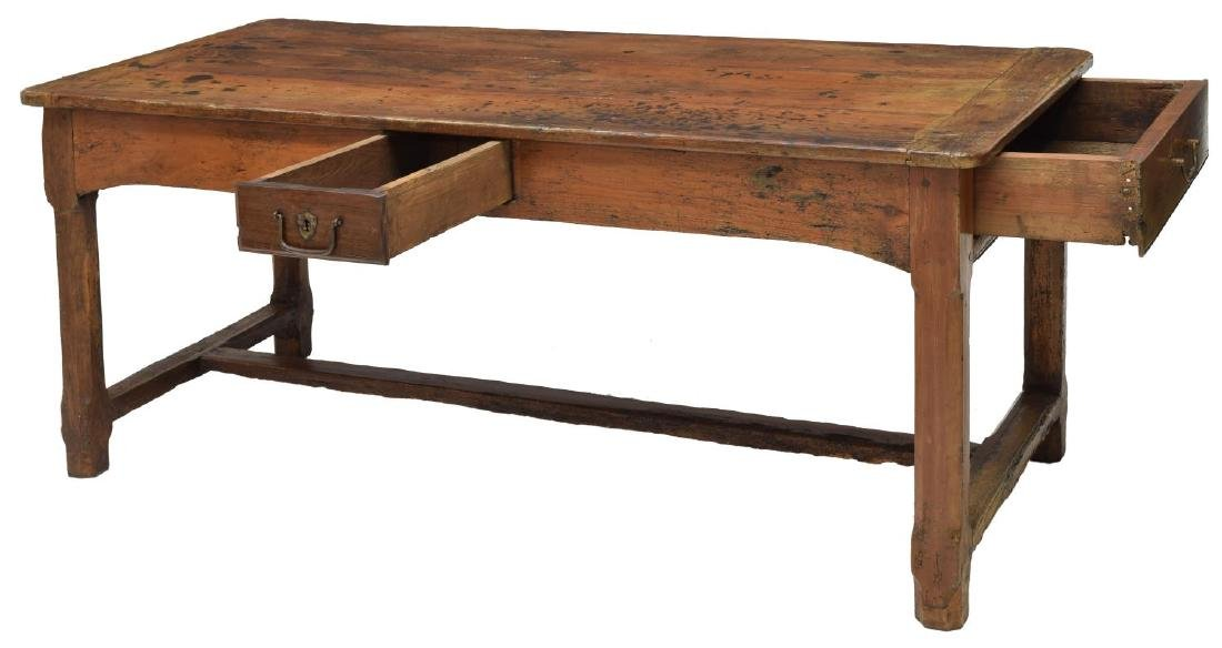 FRENCH FARM HOUSE TABLE, DRAWERS, 18th/19th C. - 2