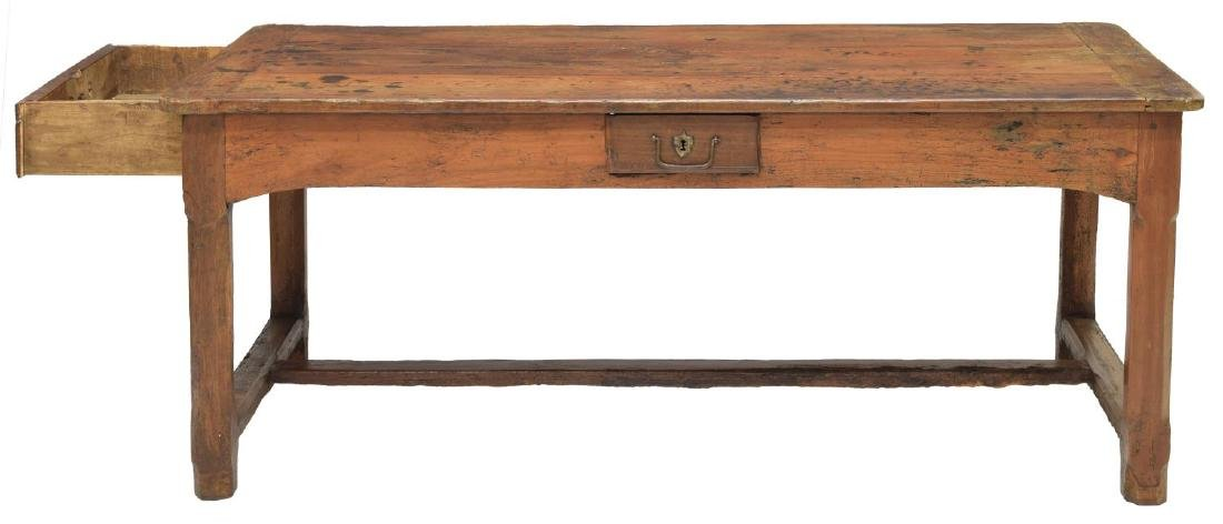 FRENCH FARM HOUSE TABLE, DRAWERS, 18th/19th C. - 3