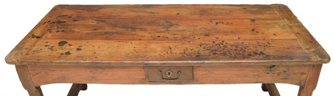 FRENCH FARM HOUSE TABLE, DRAWERS, 18th/19th C. - 4