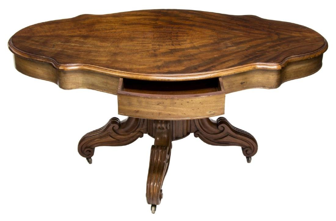 FRENCH NAPOLEON III PERIOD LOW MAHOGANY TABLE - 3