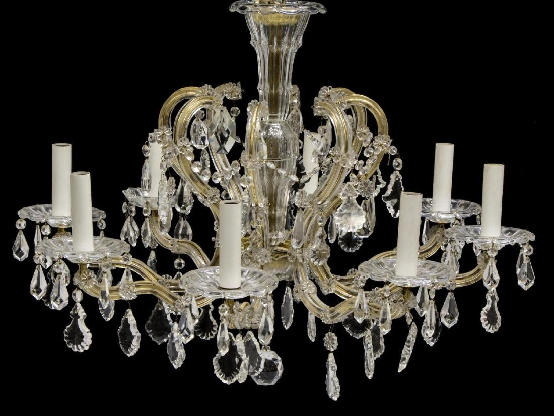 MARIA THERESA STYLE EIGHT-LIGHT CHANDELIER, 20TH C