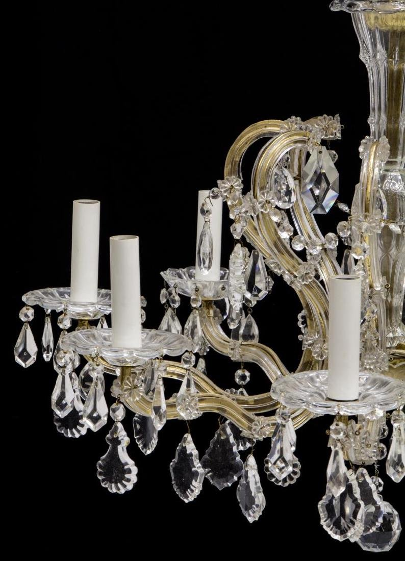 MARIA THERESA STYLE EIGHT-LIGHT CHANDELIER, 20TH C - 2