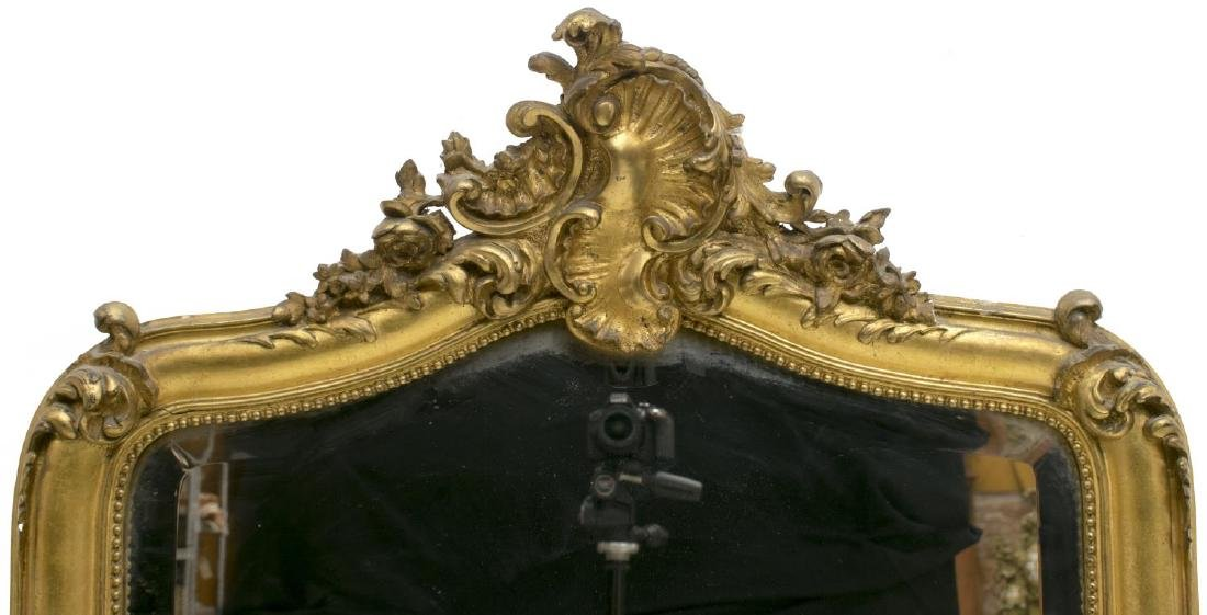 FRENCH LOUIS XV STYLE GILTWOOD WALL MIRROR - 3