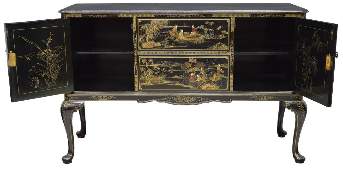 CHINOISERIE BLACK LACQUER SIDEBOARD - 2