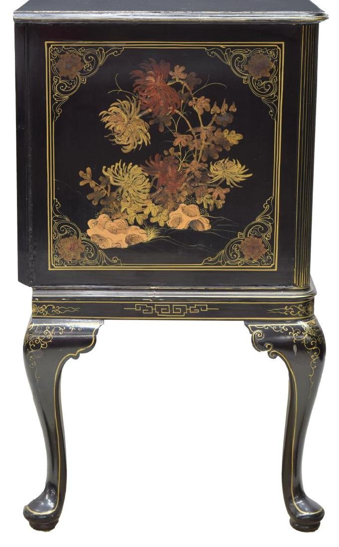 CHINOISERIE BLACK LACQUER SIDEBOARD - 3