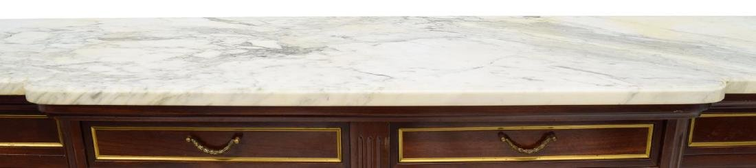 LOUIS XVI STYLE MAHOGANY & MARBLE TOP SIDEBOARD - 3