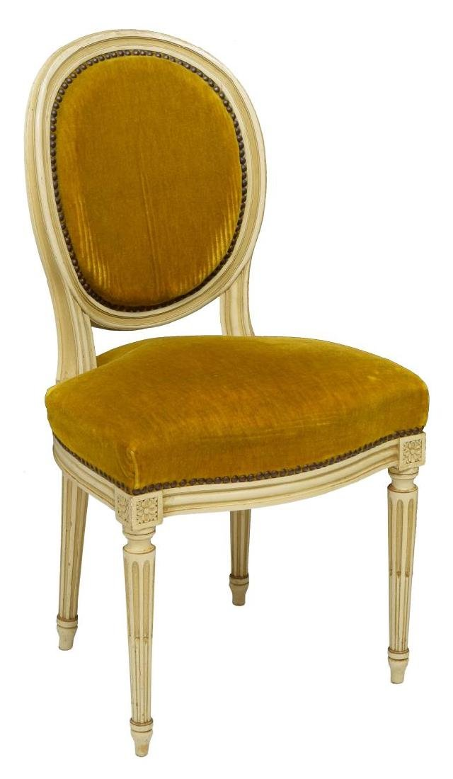 (6) FRENCH LOUIS XVI STYLE ROUND-BACK CHAIRS - 3