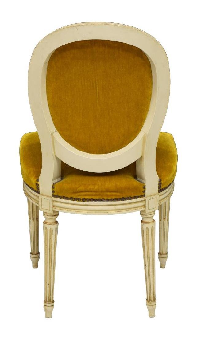 (6) FRENCH LOUIS XVI STYLE ROUND-BACK CHAIRS - 4