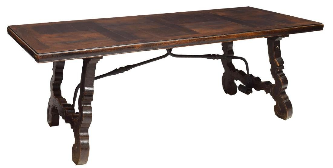 SPANISH PANEL TOP DINING TABLE