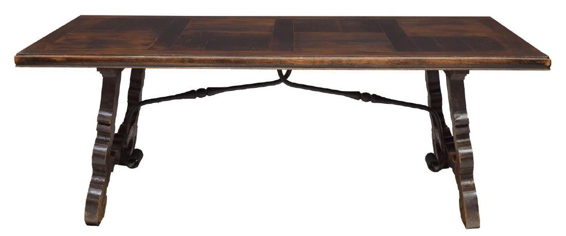 SPANISH PANEL TOP DINING TABLE - 2